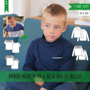 T-shirt garçon Scott 2-12A