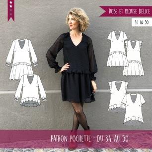 Robe et blouse Délice du 34 au 50
